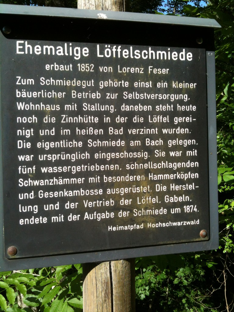 Die Löffelschiede im Schwarzwald